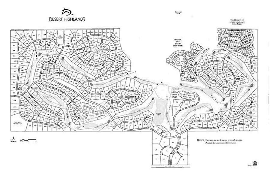 Desert Highlands Scottsdale AZ Map