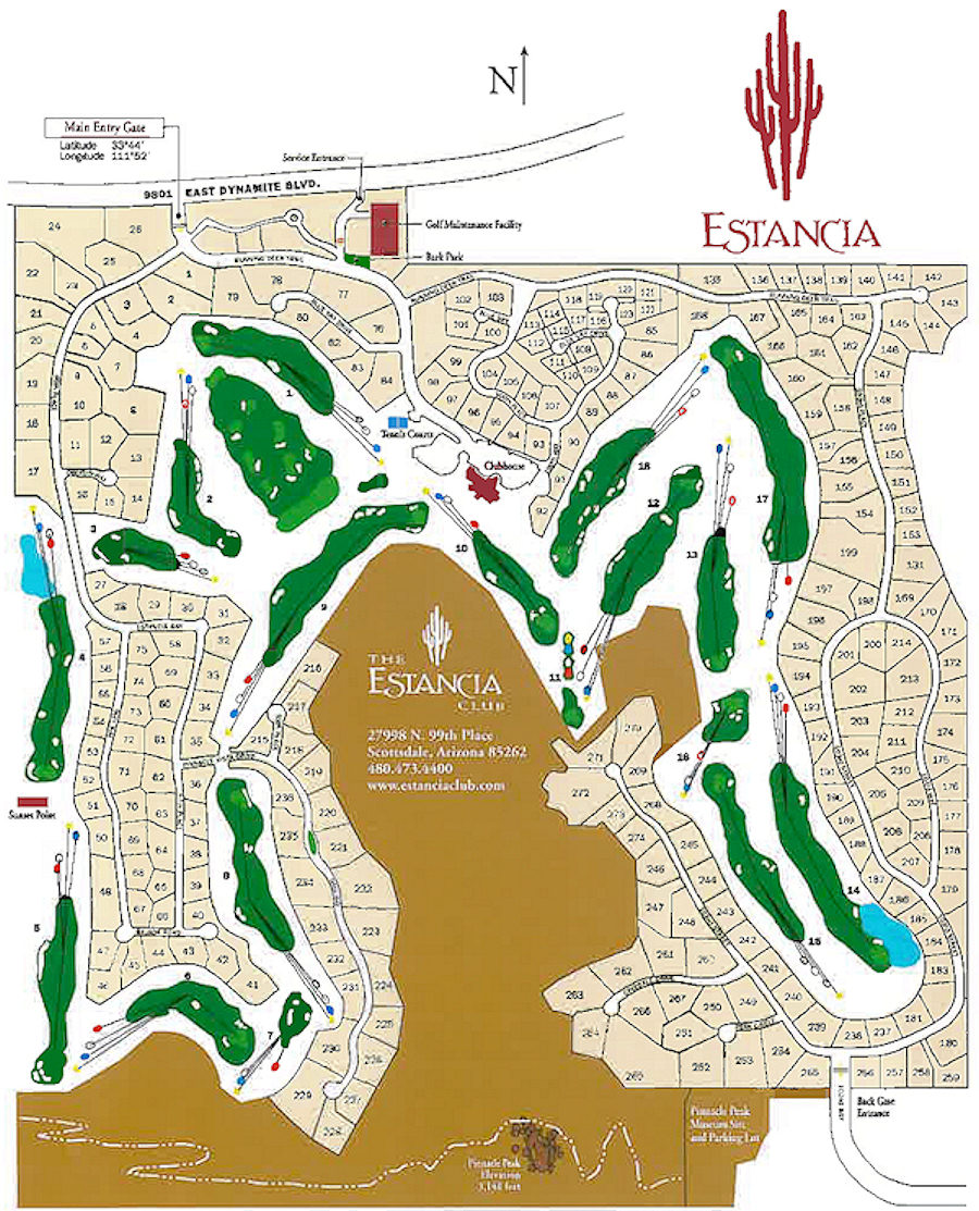 Golf Club and Community Map in Scottsdale