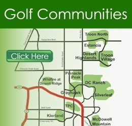 Scottsdale golf homes map