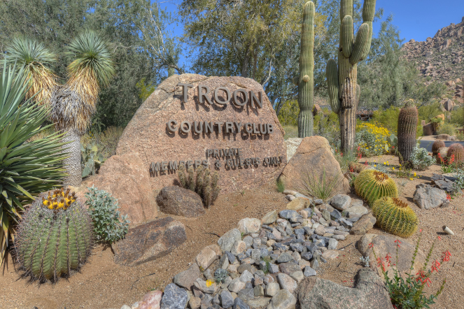Troon Country Club Sign